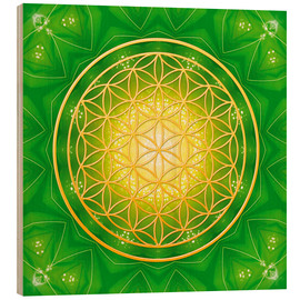 Wood print  Flower of life - healing - Dolphins DreamDesign