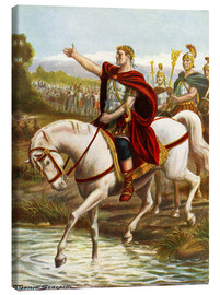 Canvas print  Julius Caesar crosses the Rubicon - Tancredi Scarpelli