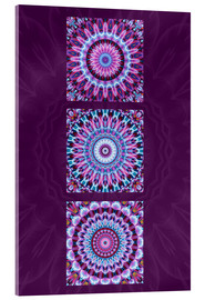 Acrylic print  Mandala Collage purple - Christine Bässler