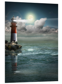 Monika Jüngling - Lighthouse by moonlight