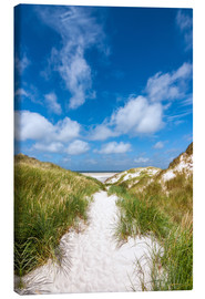 Canvas print  Path to the beach - Reiner Würz RWFotoArt