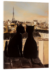 Acrylic print  Cats on the roofs of Paris - JIEL