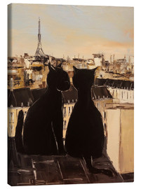 Canvas  Cats on the roofs of Paris - JIEL