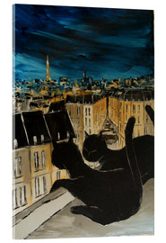 Acrylic print  The roofs of Paris - JIEL