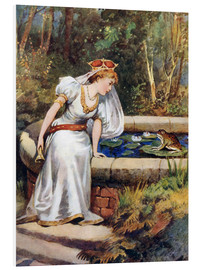 Foam board print  The Frog Prince - William Henry Margetson