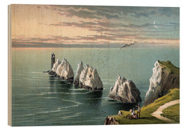 Wood print  The Needles--Isle of Wight - English School