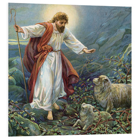 Foam board print  Jesus Christ, the tender shepherd - Ambrose Dudley