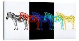 Canvas print  zebra pop art parade - Monika Jüngling