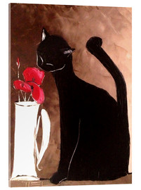 Acrylic print  Cat and Poppy - JIEL