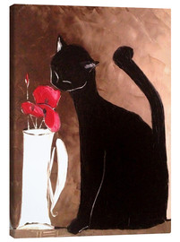 Canvas print  Cat and Poppy - JIEL
