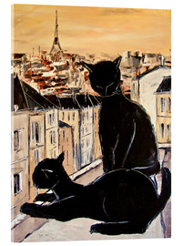 Acrylic print  Cats love over the rooftops of Paris - JIEL