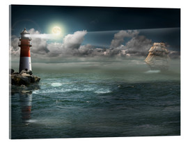 Acrylic print  Lighthouse under illumination - Monika Jüngling
