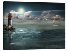 Canvas print  Lighthouse under illumination - Monika Jüngling