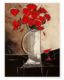Premium poster  Abstract Poppies - JIEL