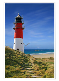 Premium poster Lighthouse dyke
