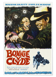 Premium poster BONNIE AND CLYDE, on Spanish