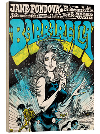 Wood print  Barbarella