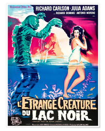 Premium poster CREATURE FROM THE BLACK LAGOON, on left: the Creature, played by Ben Chapman and Ricou Browning, on