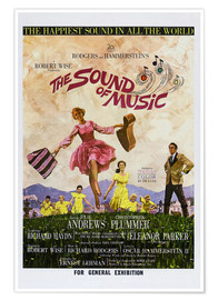 Premium poster THE SOUND OF MUSIC, Australian poster, Julie Andrews, Christopher Plummer (far right), 1965.