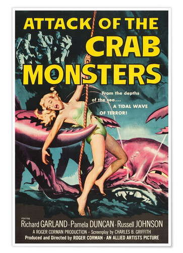 Premium poster Attack of the Crab Monsters