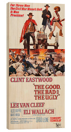 Wood print  The Good, the Bad and the Ugly