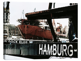 Canvas  Hamburg docks - Nestwick