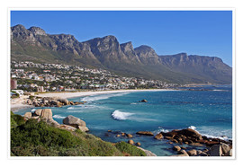 Premium poster  Camps Bay, Cape Town, South Africa - wiw