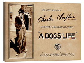 Canvas  A Dogs Life, Charlie Chaplin poster Photo 1918
