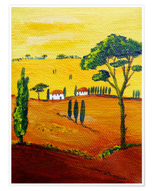 Premium poster  Tuscany landscape 1 - Christine Huwer