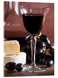 Acrylic print  Cheese platter with wine - Edith Albuschat