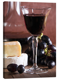 Canvas print  Cheese platter with wine - Edith Albuschat