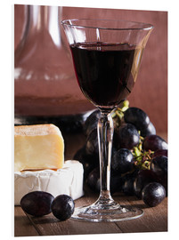 Foam board print  Cheese platter with wine - Edith Albuschat