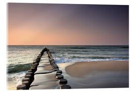 Acrylic print  Sunset at the Baltic Sea - Filtergrafia