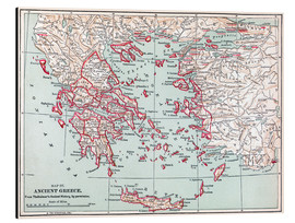 Aluminium print  Map of Ancient Greece