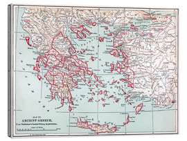 Canvas print  Map of Ancient Greece