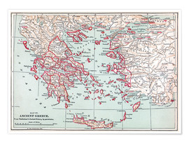 Premium poster  Map: of Ancient Greece