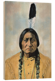 Wood print  Sitting Bull - David F. Barry