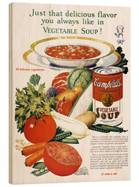 Wood print  Campbell Soup
