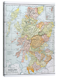 Canvas print  Map of Scotland