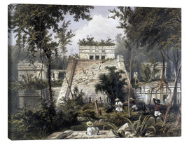 Canvas print  Mexico: Tulum, 1844. - Frederick Catherwood
