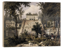 Wood print  Mexico: Tulum, 1844. - Frederick Catherwood
