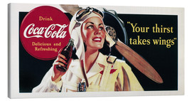 Canvas print  Coca-Cola, your thirst takes wings