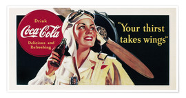 Premium poster  Coca-Cola, your thirst takes wings