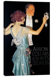 Canvas print  Arrow Collars - Joseph Christian Leyendecker