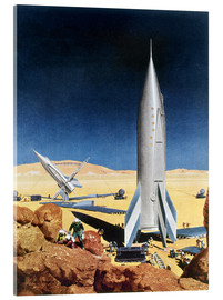 Acrylic print  Mars Mission, 1950s. - Chesley Bonestell