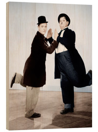 Wood print  Stan Laurel & Oliver Hardy