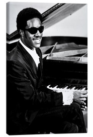 Canvas print  Stevie Wonder at the piano