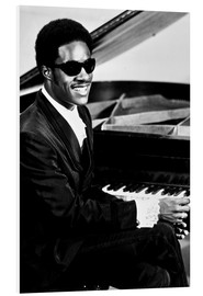 Foam board print  Stevie Wonder at the piano