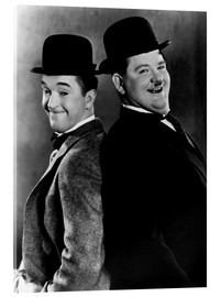 Acrylic glass  Stan Laurel & Oliver Hardy