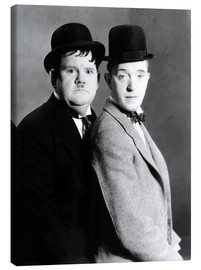 Canvas print  Oliver Hardy & Stan Laurel
